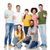 internationale · groep · mensen · tonen · diversiteit · race - stockfoto © dolgachov