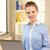 boldog · nő · laptop · számítógép · fényes · kép · üzlet - stock fotó © dolgachov