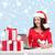 женщину · подарки · портативного · компьютера · кредитных · карт · Рождества · рождество - Сток-фото © dolgachov