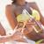 twee · mooie · jonge · vriendinnen · bikini · strand - stockfoto © dolgachov