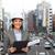 empresária · clipboard · cidade · edifícios · pessoas · de · negócios · sorridente - foto stock © dolgachov
