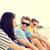 grupo · amigos · voleibol · equipo · playa · verano - foto stock © dolgachov