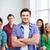 student · znajomych · stwarzające · klasie · tle · edukacji - zdjęcia stock © dolgachov