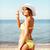 heureux · femme · soleil · liberté - photo stock © dolgachov