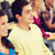 grupo · sorridente · estudantes · palestra · ouvir · educação - foto stock © dolgachov