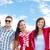 grupo · sonriendo · adolescentes · colgante · fuera · verano - foto stock © dolgachov