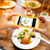 hands photographing food by smartphone stock photo © dolgachov