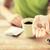 vrouw · hand · zaden · mensen - stockfoto © dolgachov