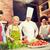 şef · teklif · vejetaryen · yemek · genç · mutfak - stok fotoğraf © dolgachov