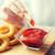 fast-food · lanches · mesa · de · madeira · insalubre · comer · amendoins - foto stock © dolgachov