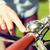 close up of male hand ringing bell on bike wheel stock photo © dolgachov