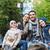 család · okostelefon · elvesz · tábortűz · kempingezés · utazás - stock fotó © dolgachov