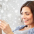 heureux · femme · regarder · maison · test · de · grossesse · fécondité - photo stock © dolgachov