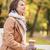 gülen · güzel · bir · kadın · içme · sıcak · kahve · açık · havada - stok fotoğraf © dolgachov