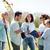 csoport · önkéntesek · ültet · fák · park · önkéntesség - stock fotó © dolgachov