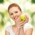 jonge · mooie · vrouw · groene · appel · foto · vrouw - stockfoto © dolgachov