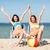 meisjes · zonnebaden · zomer · vakantie · vakantie - stockfoto © dolgachov