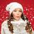 niña · feliz · invierno · ropa · palmas · Navidad - foto stock © dolgachov