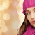 close up of smiling young woman in winter clothes stock photo © dolgachov
