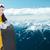 jeune · femme · ski · femme · vacances · vacances · couleur - photo stock © dolgachov