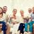 boldog · család · ül · kanapé · otthon · család · boldogság - stock fotó © dolgachov