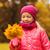 fille · laisse · petite · fille · automne · parc - photo stock © dolgachov