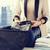 mulher · viajar · saco · casa · quarto · de · hotel - foto stock © dolgachov