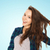 feliz · cabelo · pessoas · cuidados · com · os · cabelos - foto stock © dolgachov