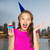 feliz · mulher · menina · adolescente · aniversário · pessoas - foto stock © dolgachov