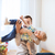 father with son playing and having fun at home stock photo © dolgachov