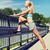 feminino · fitness · bela · mulher · quente · para · cima · pilates - foto stock © dolgachov