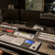 music mixing console at sound recording studio stock photo © dolgachov