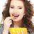 háziasszony · csésze · fényes · kép · nő · lány - stock fotó © dolgachov