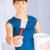 woman with paintbrush and paint pot stock photo © dolgachov