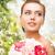 女性 · ダイヤモンド · イヤリング · 美人 · イブニングドレス · 着用 - ストックフォト © dolgachov