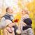 famiglia · felice · autunno · parco · famiglia · infanzia · stagione - foto d'archivio © dolgachov