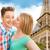 Paris · Torre · Eiffel · romântico · casal · beijando - foto stock © dolgachov