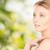 twarz · piękna · młoda · kobieta · piękna · ludzi · zielone - zdjęcia stock © dolgachov