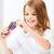 smiling girl choosing colorful felt tip pen stock photo © dolgachov