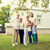 happy family in front of house outdoors stock photo © dolgachov