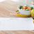groene · plantaardige · kom · tabel · wijn - stockfoto © dolgachov