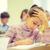 uczennica · pióro · nudzić · klasie · edukacji · szkoła · podstawowa - zdjęcia stock © dolgachov