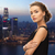 beautiful woman wearing earrings over night city stock photo © dolgachov