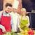 férfi · szakács · zöldségek · étterem · konyha · étel - stock fotó © dolgachov