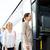 utasok · beszállás · busz · állomás · előtér · sofőr - stock fotó © dolgachov