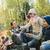 boldog · család · mályvacukor · tábortűz · kempingezés · utazás · turizmus - stock fotó © dolgachov