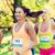 mutlu · genç · yarış · rozet · sayılar · uygunluk - stok fotoğraf © dolgachov