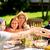 heureux · amis · dîner · été · garden · party · loisirs - photo stock © dolgachov