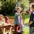 счастливым · молодые · друзей · еды · барбекю · мяса - Сток-фото © dolgachov