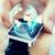 close up of hand with globe hologram on smartwatch stock photo © dolgachov